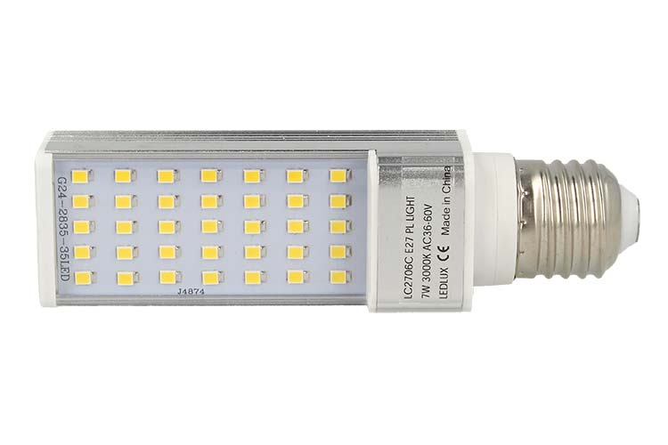 Lampada Led E27 PLC AC 24V 36V 48V 60V 7W Bianco Caldo - PZ