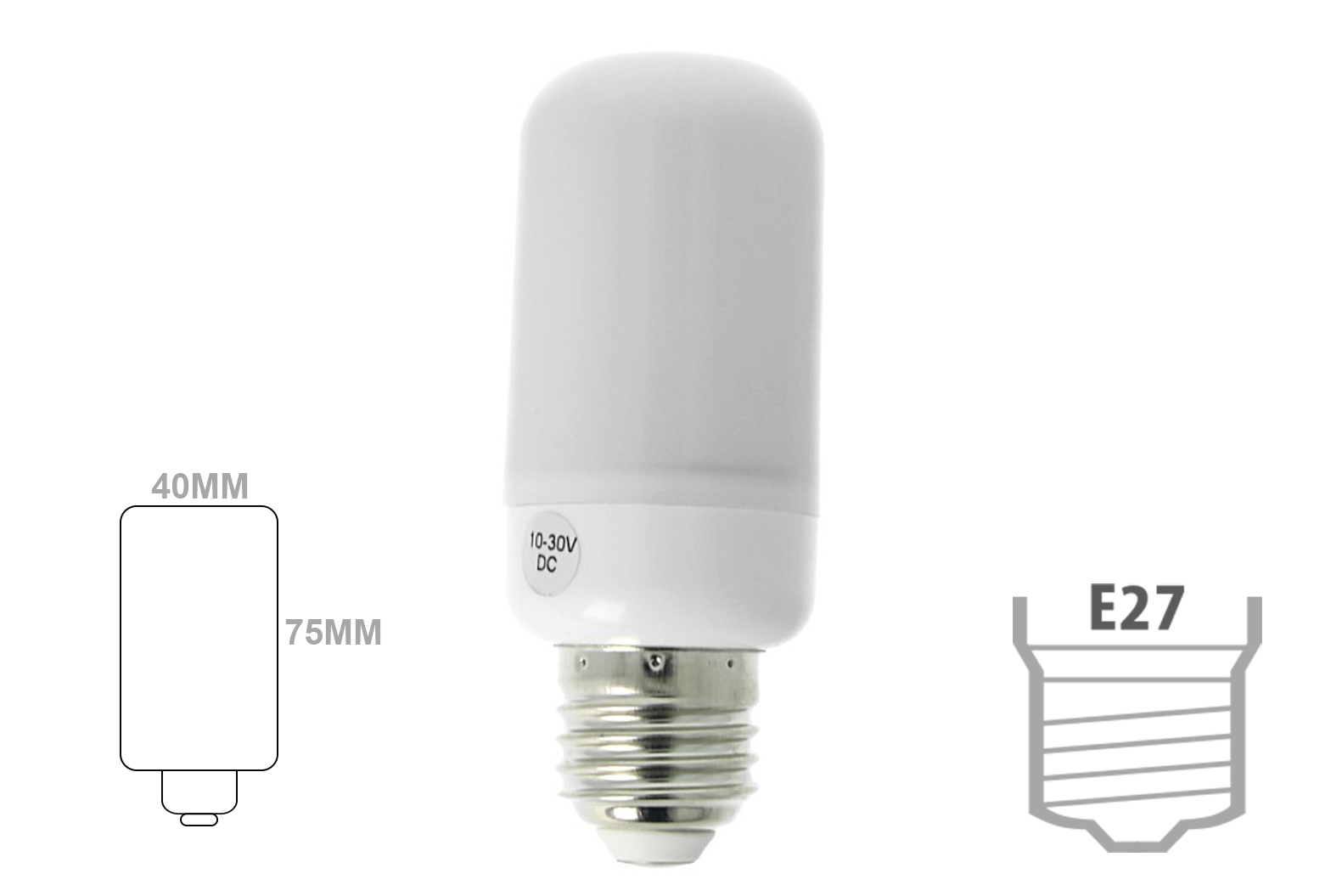 Lampada Led E27 DC 24V AC/DC 12V 8W Bianco Neutro Forma Mais Pannocchia - PZ