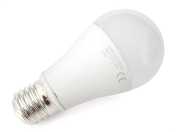Lampada Led E27 A60 12W Bianco Caldo Bulbo Sfera SKU-177 - PZ