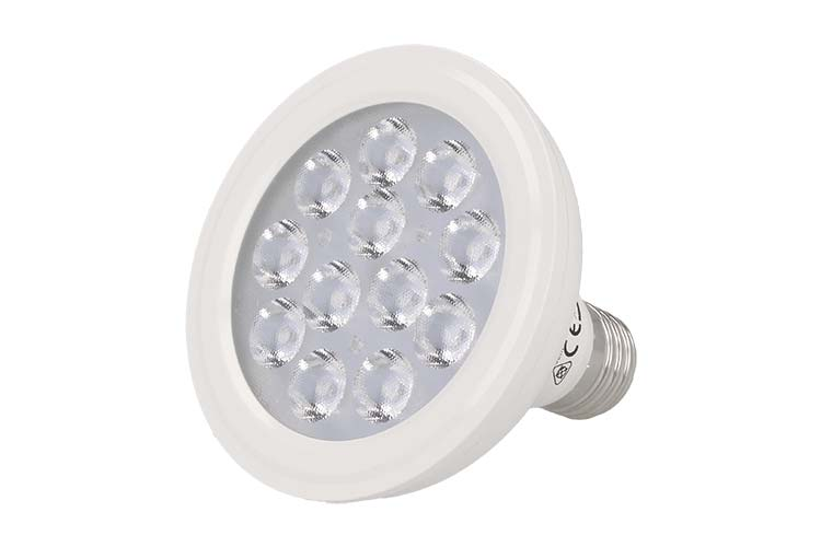 Lampada Faretto Led Spot E27 PAR30 12W=110W Bianco Neutro 220V 36 Gradi 12 Smd 3020 SKU-154 - PZ