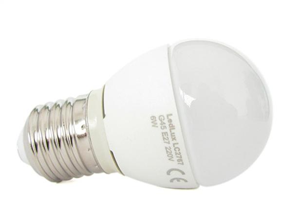 Lampada A Led E27 G45 6W Bianco Caldo Forma Sfera Bulbo Palla 240 Gradi 220V SKU-174 - PZ