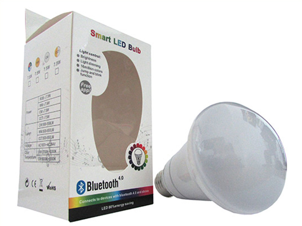 Lampada Led E27 RGB RGBW 7,5W Dimmerabile Via Bluetooth Domotica Smart Per Android iOS Iphone - KIT