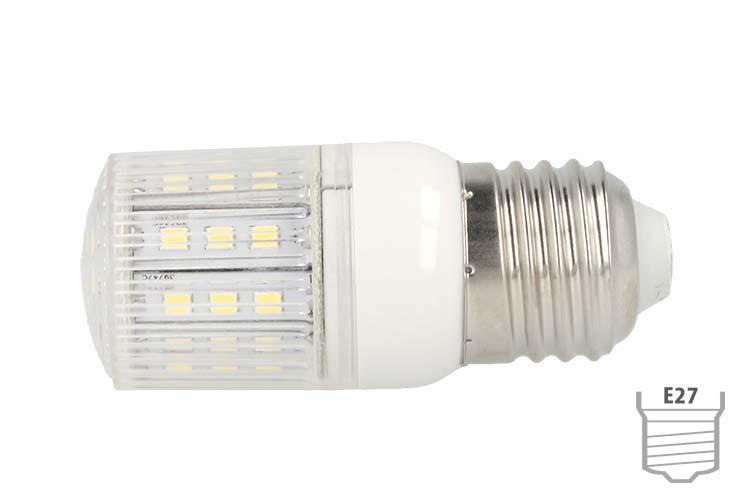 Lampada LED E27 4W 220V 27 SMD 5050 Bianco Freddo Basso Consumo - PZ