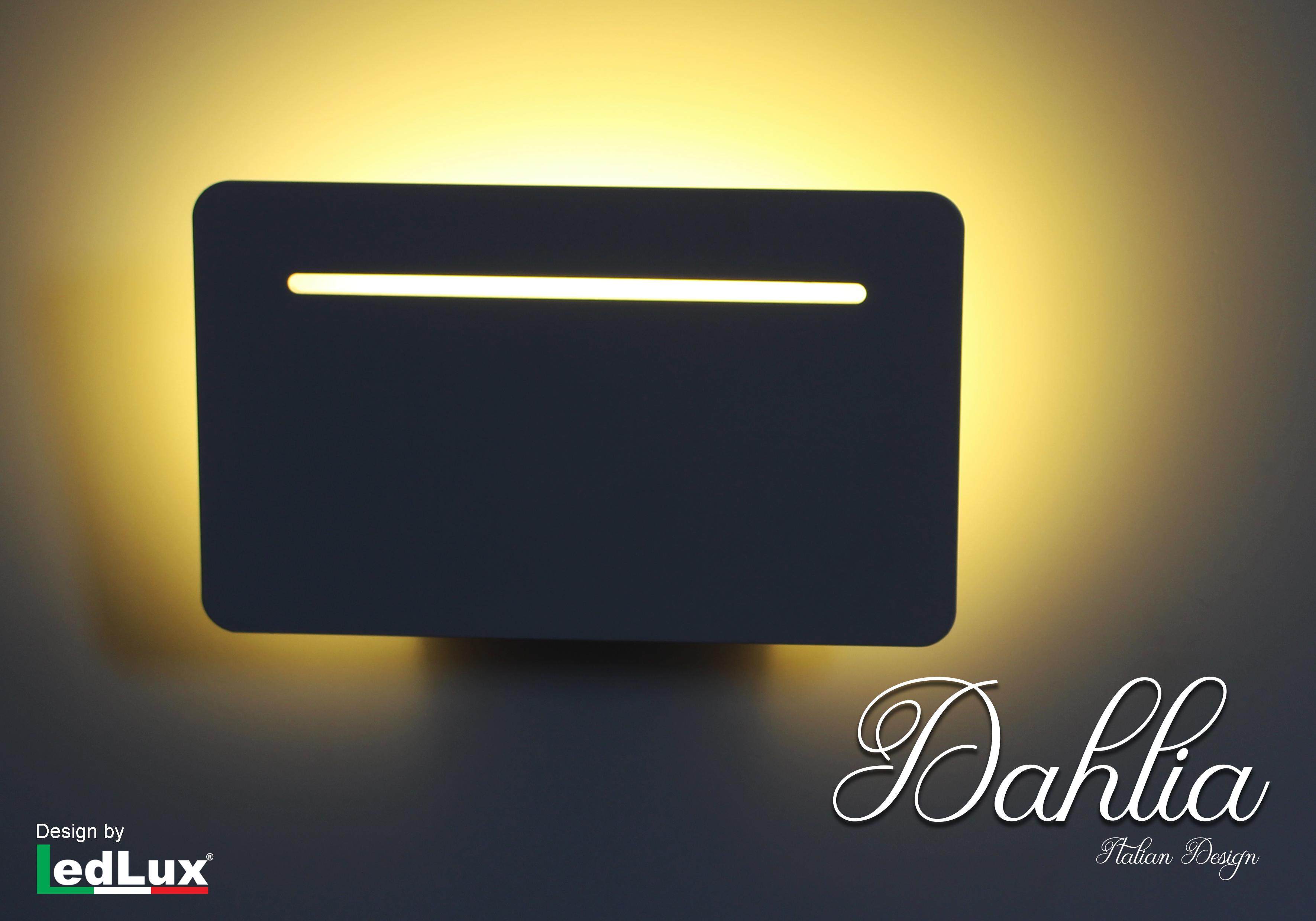 Applique Led Da Parete Modello Dahlia Italian Design Moderna 6W Bianco Caldo - PZ