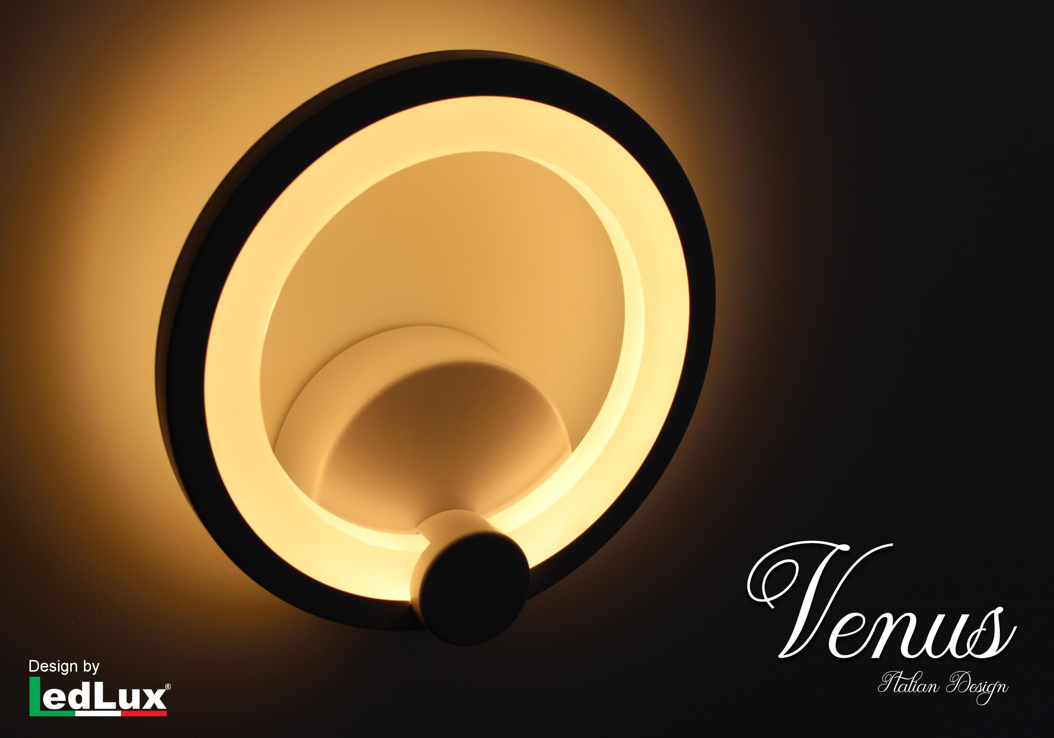 Applique Led Da Parete Modello Venus Italian Design Moderna 10W Bianco Caldo - PZ