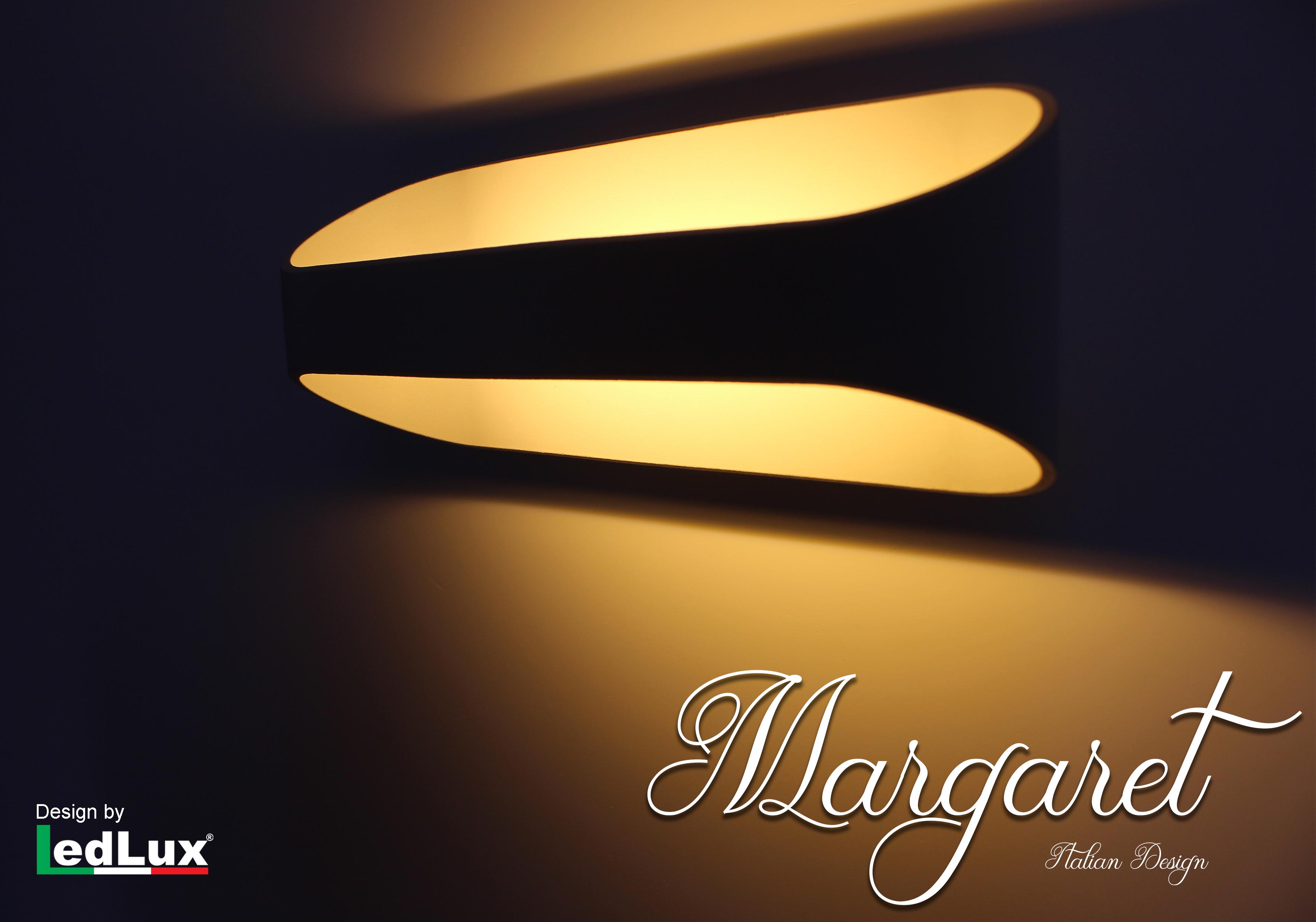 Applique Led Da Parete Modello Margaret Italian Design Moderna 10W Bianco Caldo - PZ