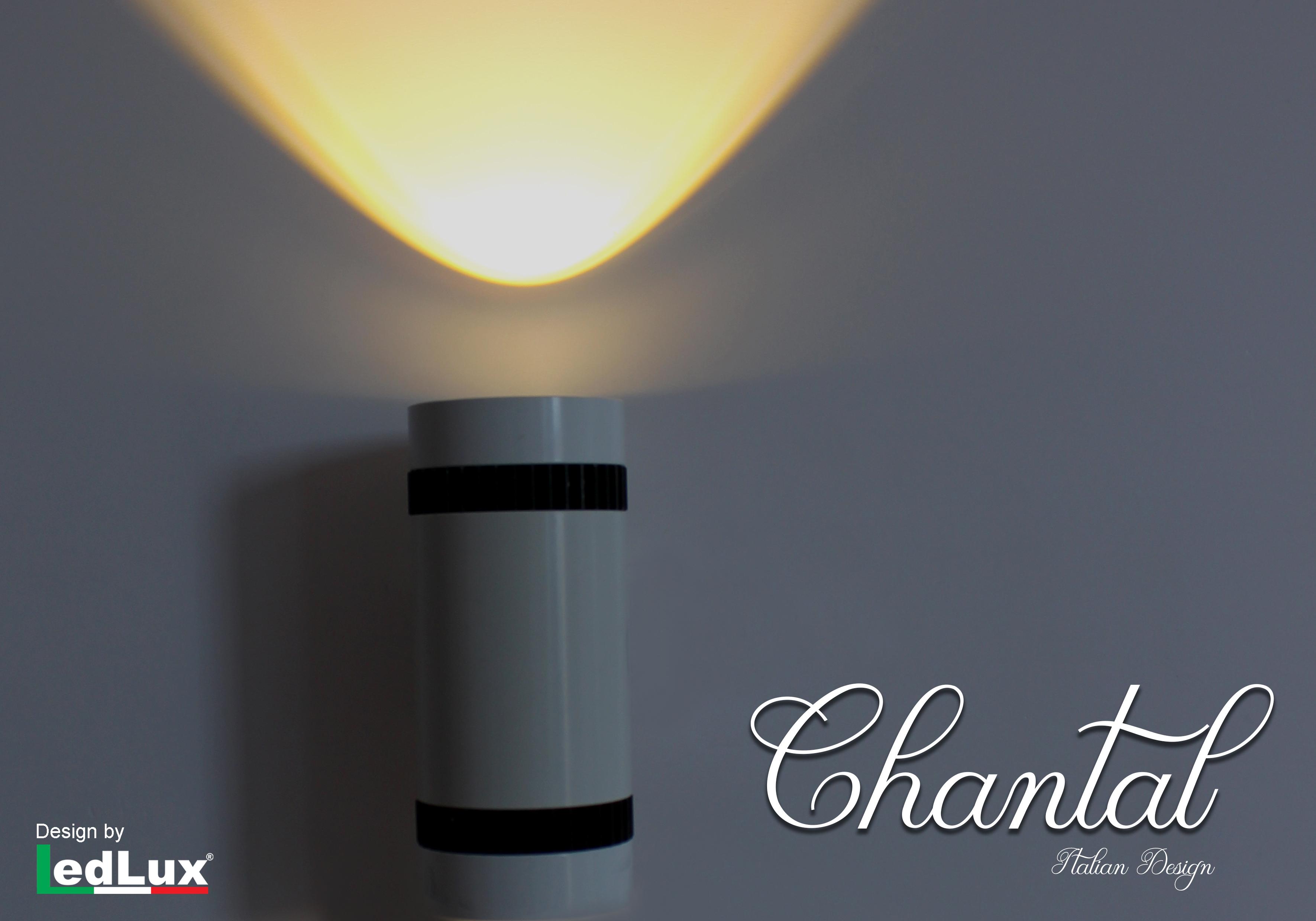 Applique Led Da Parete Modello Chantal Italian Design Moderna 3W Singolo Illuminazione Bianco Caldo - PZ