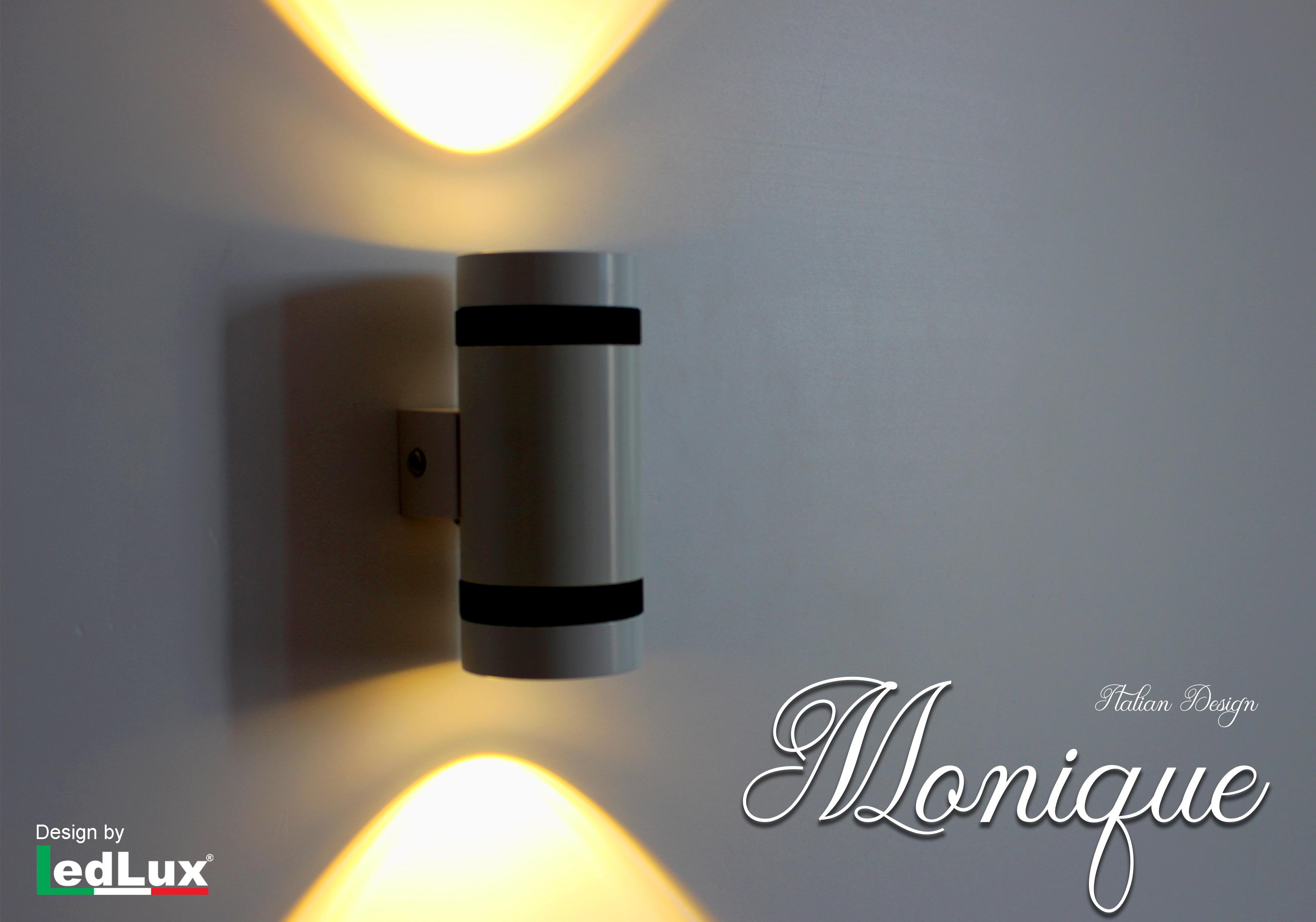 Applique Led Da Parete Modello Monique Italian Design Moderna 6W Doppio Illuminazione Bianco Caldo - PZ