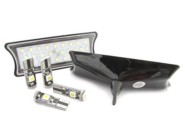 Kit Plafoniera Luci Led Di Cortesia Lettura BMW E60 E65 E87 Bianco 4 Lampade Led T10 Canbus Incluso - KIT