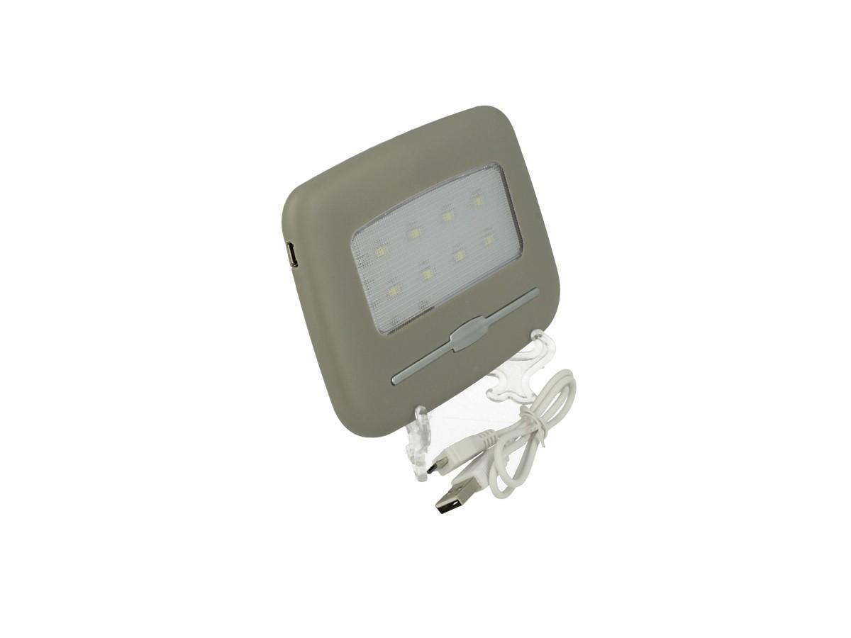 Plafoniera Led Touch Dimmerabile Ricaricabile Con Batteria Calamite Magnetico Biadesivo USB Universale Per Camper Camion Auto - KIT