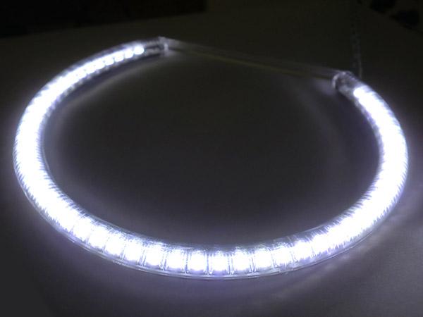 14L - LE9106   Coppia Angel Eyes Anello Led Semicerchio Diametro 106mm - Spedizione in 24/48 ore lavorative