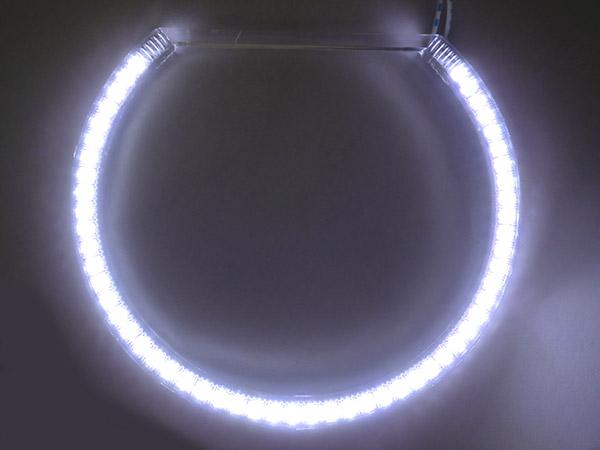 14L - LE9124   Coppia Angel Eyes Anello Led Semicerchio Diametro 124mm - Spedizione in 24/48 ore lavorative