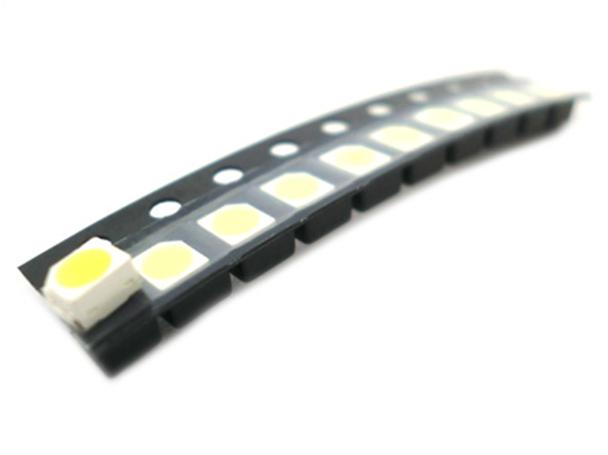 10 PZ Led SMD 3528 Bianco Freddo 3.2-3.4V 6000K 0,06W 20mA