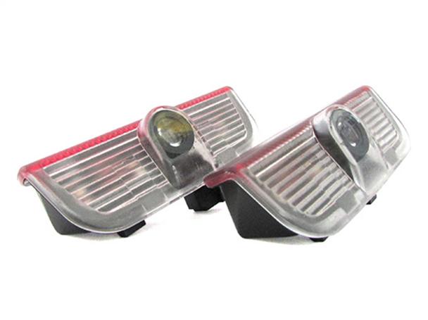 Kit Luci Led Logo Proiettori Auto Portiere VW Golf 5 6 Plus Jetta Passat CC Touareg Eos Scirocco Senza Modifica - KIT