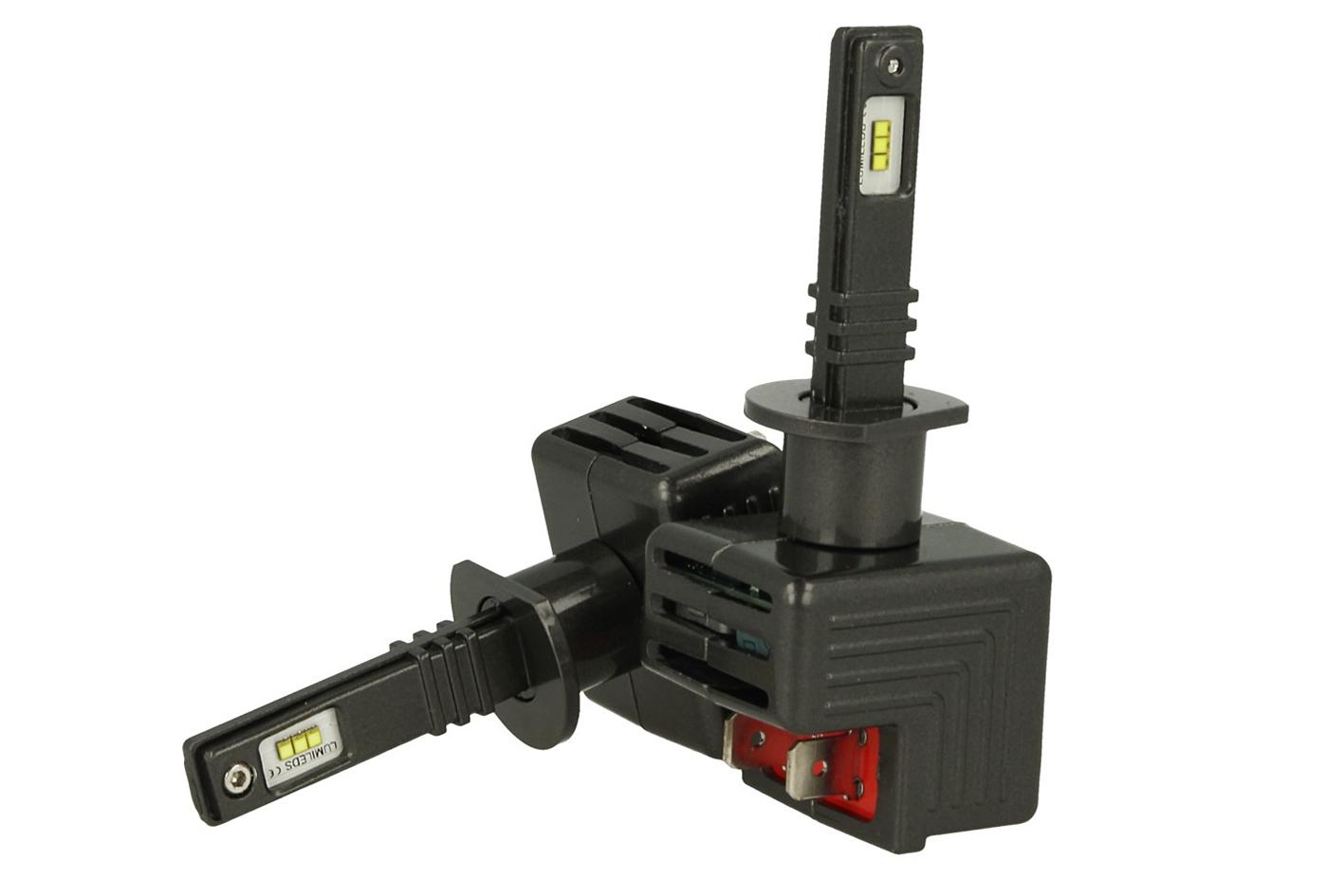 Kit Full Led Canbus H1 30W 12V Con 6 Chip Philips Lumileds ZES Super Compatto Facile Da Installare Raffreddamento Ventola - KIT