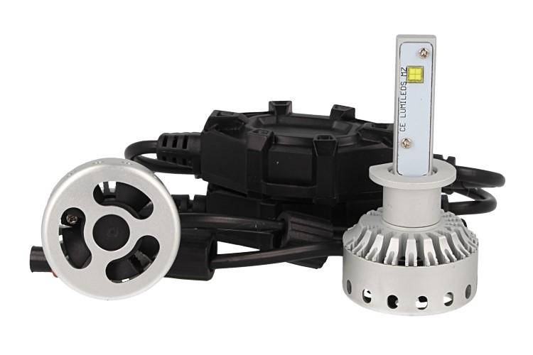 Kit Full Led Canbus H1 40W 5000 Lumens Dissipazione Con Ventilatore 12V 24V 2 Smd Philips MZ Attacco Smontabile Fuoco Regolabile - KIT