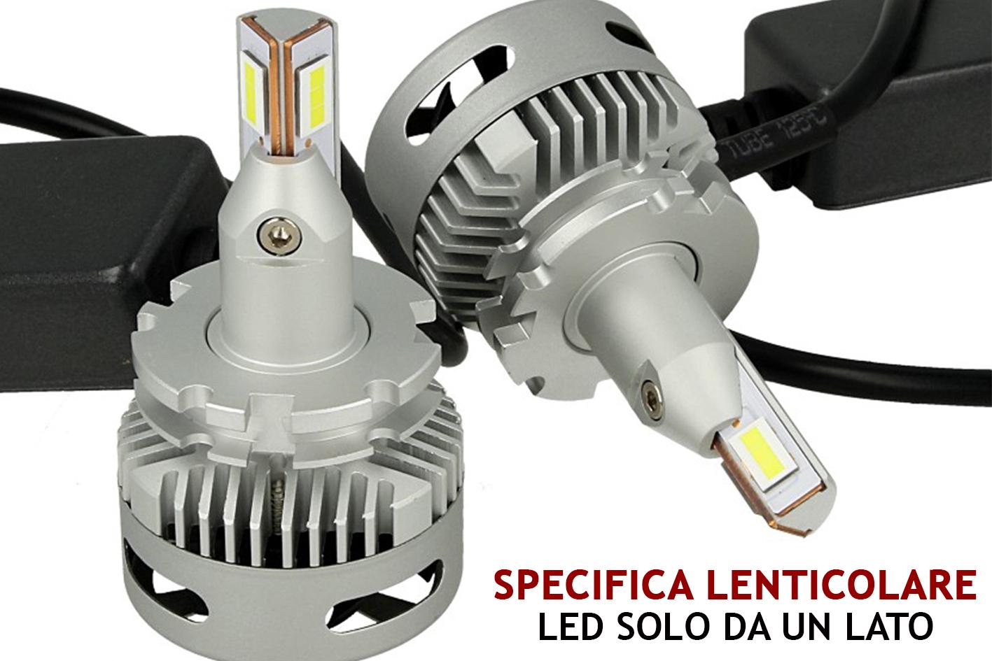 Kit Full Led Canbus Lampada D1S D1R D3S 45W 12V 24V Per Faro Lenticolare Piu Lumisoso Dello Xenon Originale - KIT