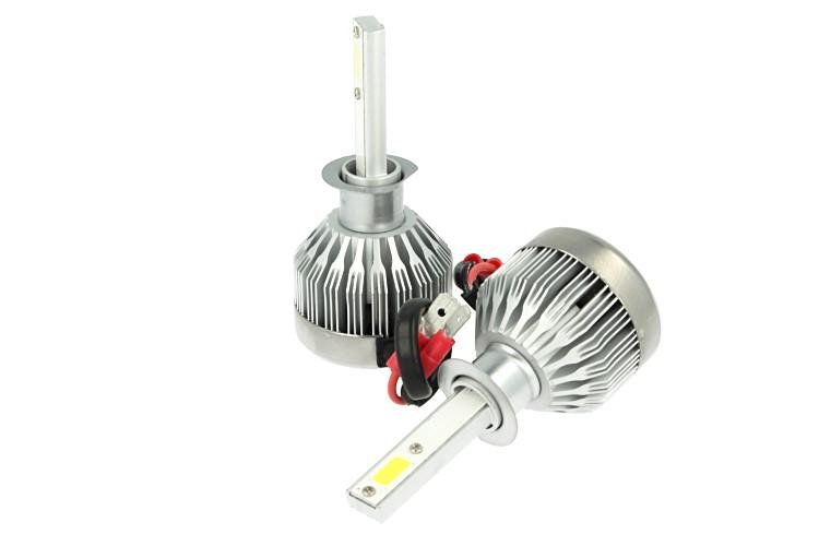 Kit Full Lampada Led Cob H1 20W 12V 24V Bianco 6000K Per Abbagliante e Fendinebbia Senza Driver - KIT