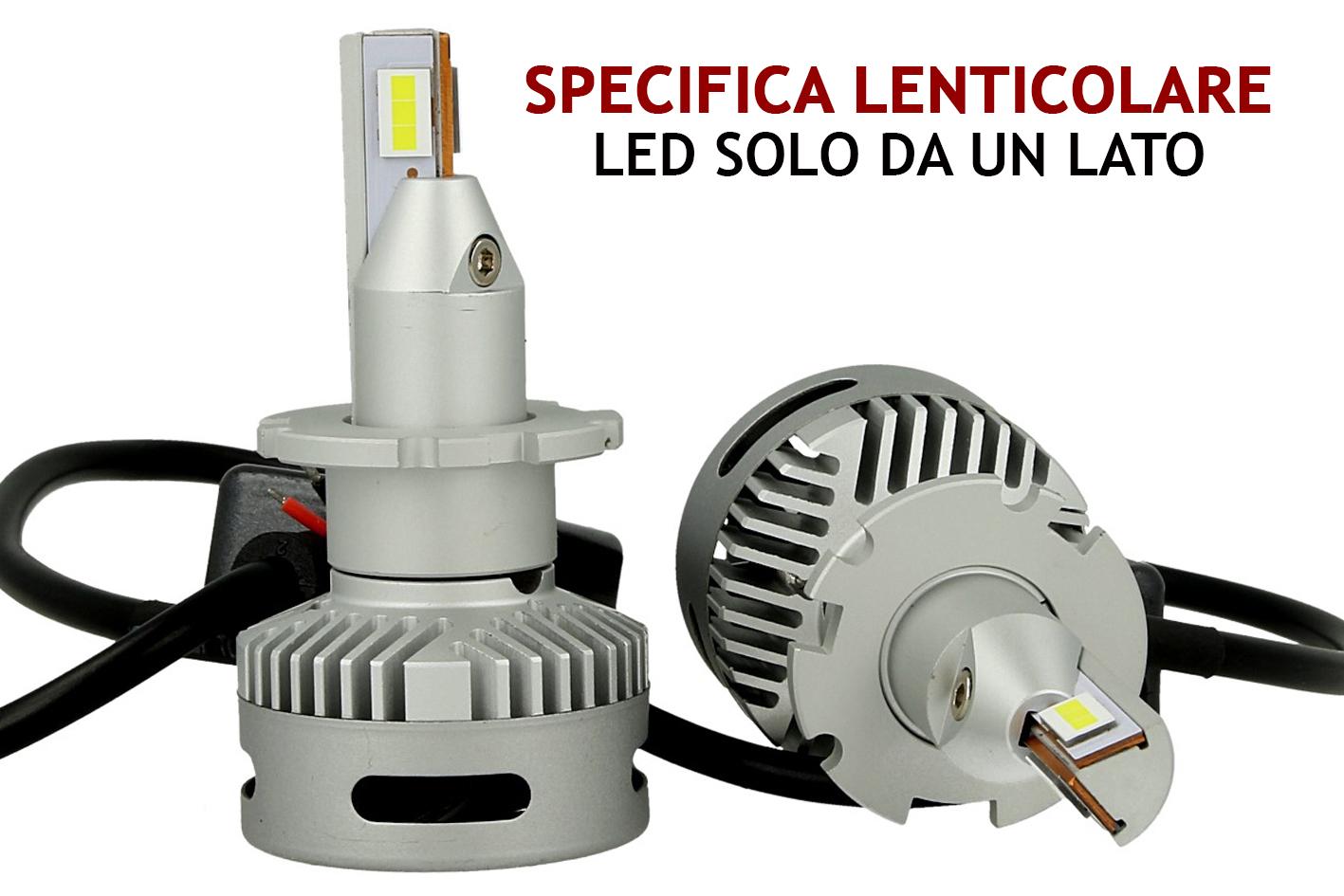 Kit Full Led Canbus Lampada D2S D2R D4S 45W 12V 24V Per Faro Lenticolare Piu Lumisoso Dello Xenon Originale - KIT