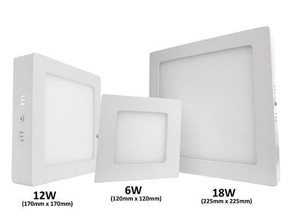 Plafoniera Quadrata Da Esterno Led : Plafoniera faretto led da soffitto muro parete quadrata w bianco