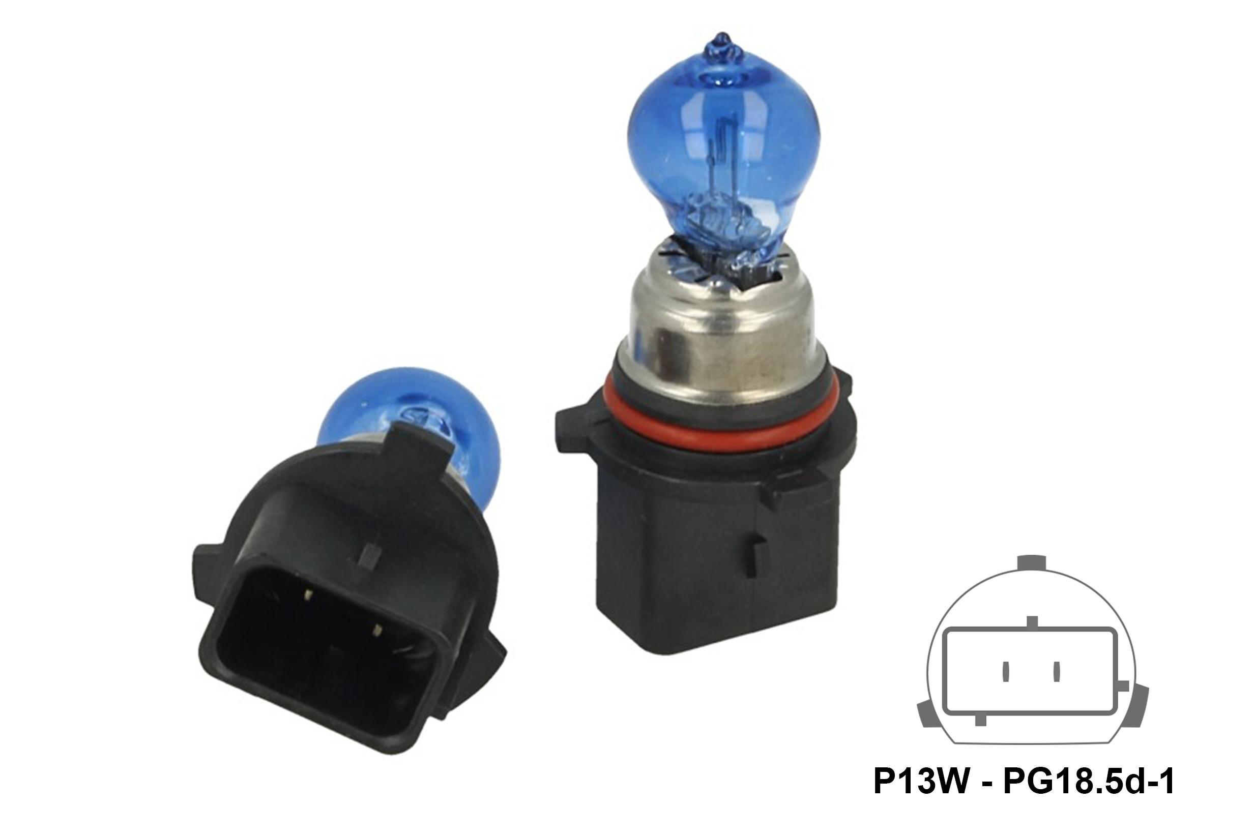 Lampada P13W 12V 13W PG18.5d-1 Super White Effetto Xenon Bianca Sostituzione Philips 12277C1 - PAIO