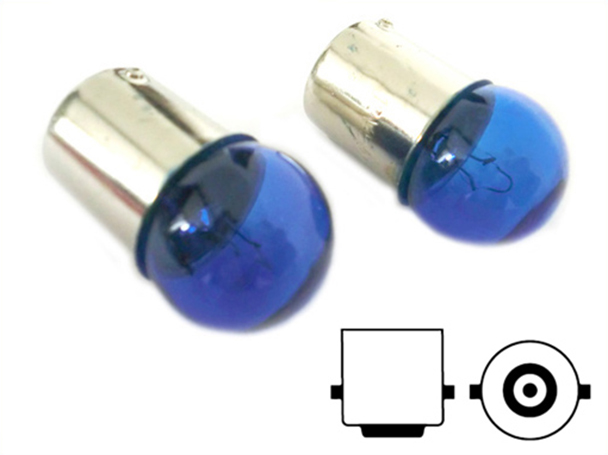 Lampada Alogena G18 BA15S R10W 12V 10W Luci Posizione Colore Azzurro - PAIO