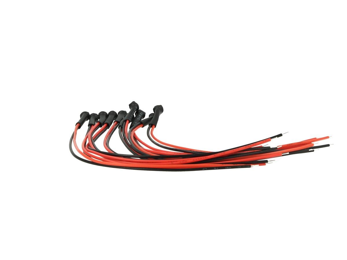 10 Pezzi Micro Mini Lampada Led Con Filo 6V Smd 3528 Colore Bianco Luci Spia Per
