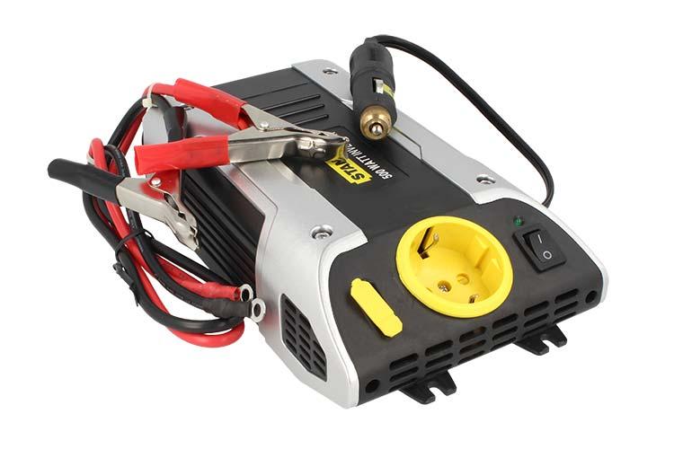 Power Inverter Auto 12V 220V 500W Stanley PC500-E - KIT