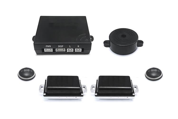 Kit Sensore Monitoraggio Angolo Punto Cieco Dispositivo Radar Micro Onda Ultrasuono di Avviso Sorpasso BSD Blind Spot Detection System Universale - KIT