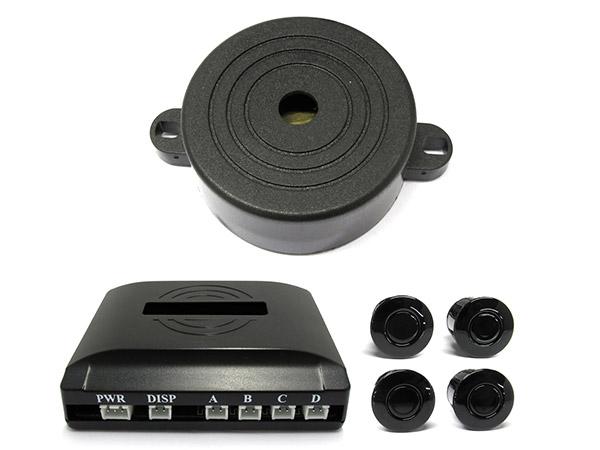 Kit 4 Sensore di Parcheggio Staccabile Cicalino Acustico SB-301S-4 - KIT