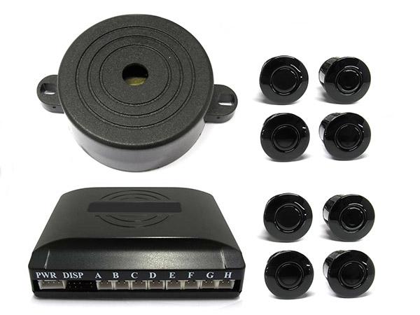 Kit 8 Sensore di Parcheggio Staccabile Cicalino Acustico SB-301S-8 - KIT
