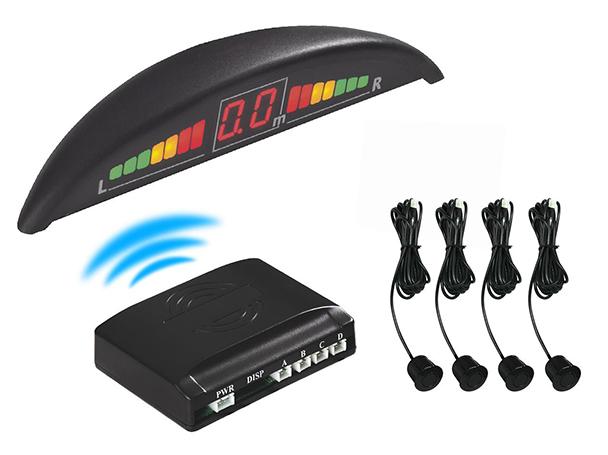 Kit 4 Sensore di Parcheggio Wireless Senza Filo Display Led Cicalino SB-323S-4 - KIT