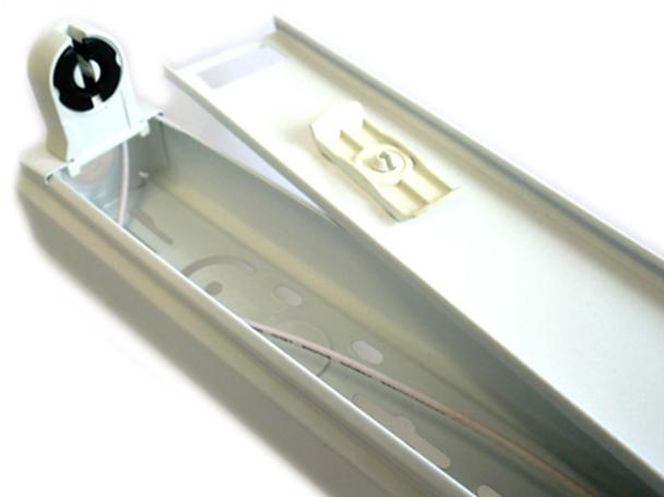 Plafoniere Per Tubi A Led : Tl1060 portalampada plafoniera singolo tubo neon t8 a led da 60cm
