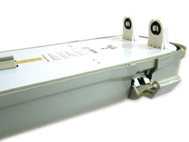 Ricambi Plafoniere Neon : Plafoniera stagna doppio tubo led t cm neon a
