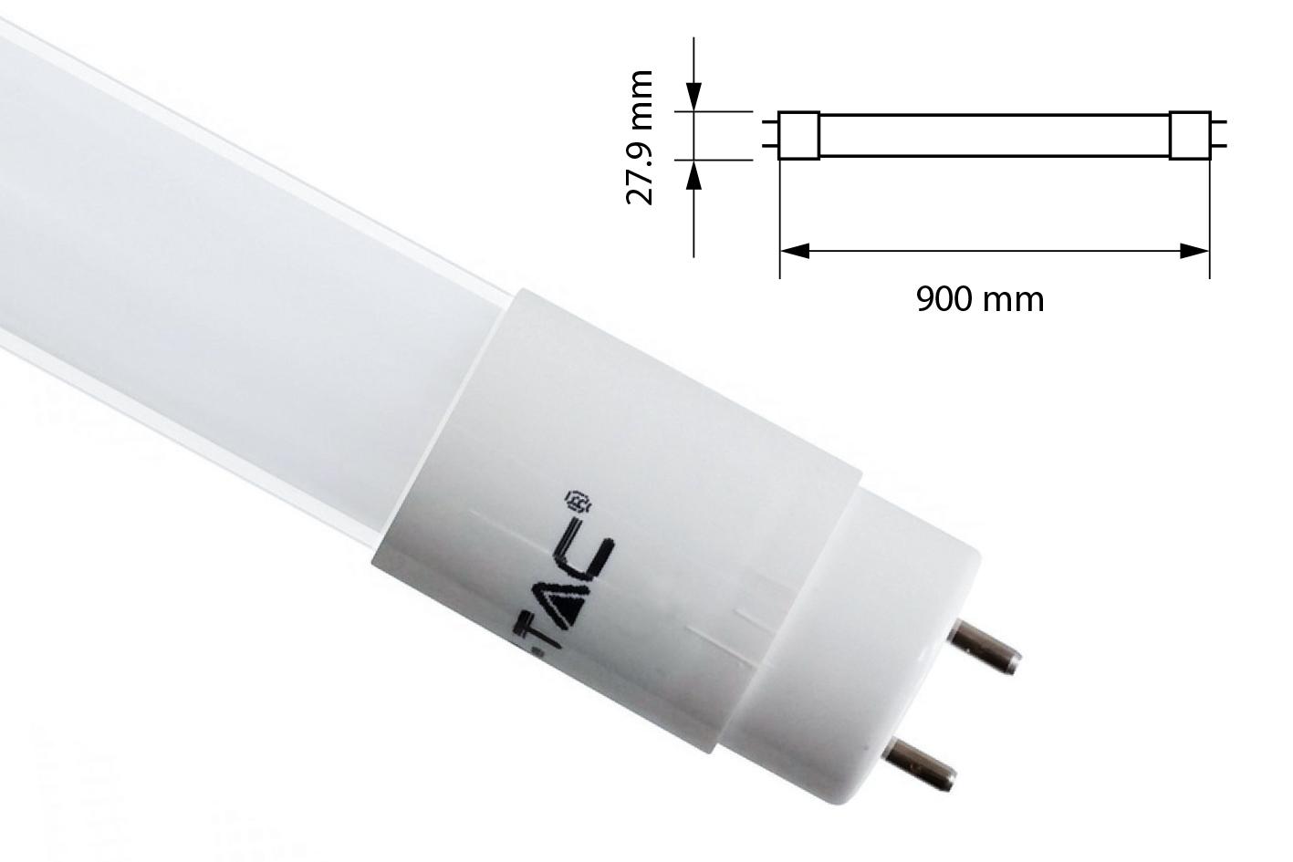 Plafoniera Con Reattore Elettronico : Tubo led t8 g13 90cm 14w bianco freddo alimentazione da un lato