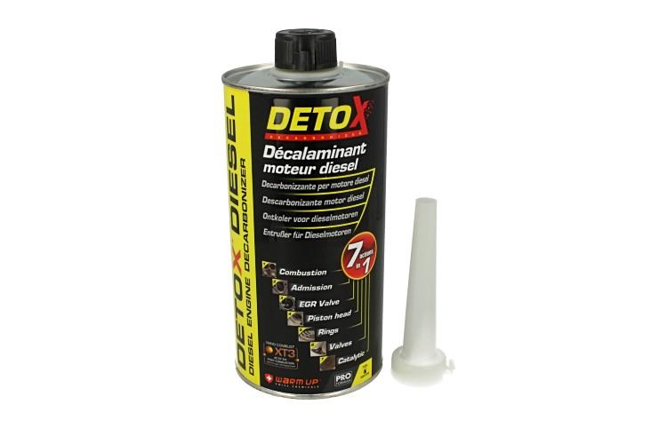 WARM UP Detox Diesel DD1000 Decarbonizzante Disincrostante Motore Diesel 7 in 1:Camera di Combustione Immissione Valvola EGR Testata Fasce Catalizzatore 1000ml - PZ