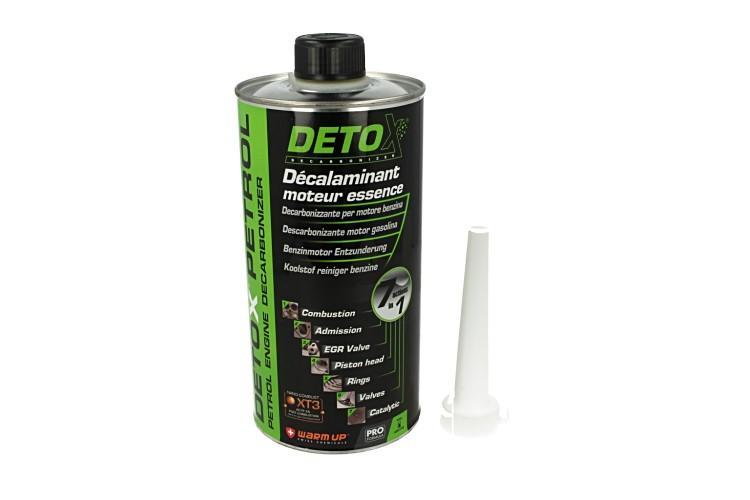 WARM UP Detox Petrol DP1000 Decarbonizzante Disincrostante Motore Benzina 7 in 1:Camera di Combustione Immissione Valvola EGR Testata Fasce Catalizzatore 1000ml - PZ