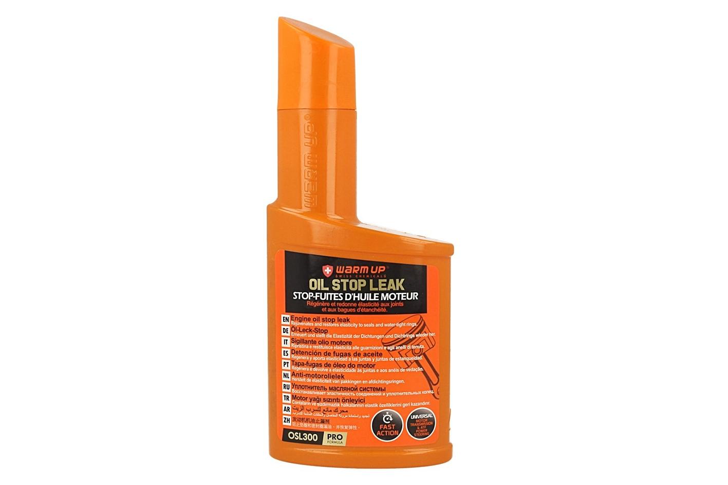 WARM UP Oil Stop Leak Rigenerante dei Giunti Antifuga Motore Cambio Manuale Differenziale Sterzo ATF 300ml - PZ