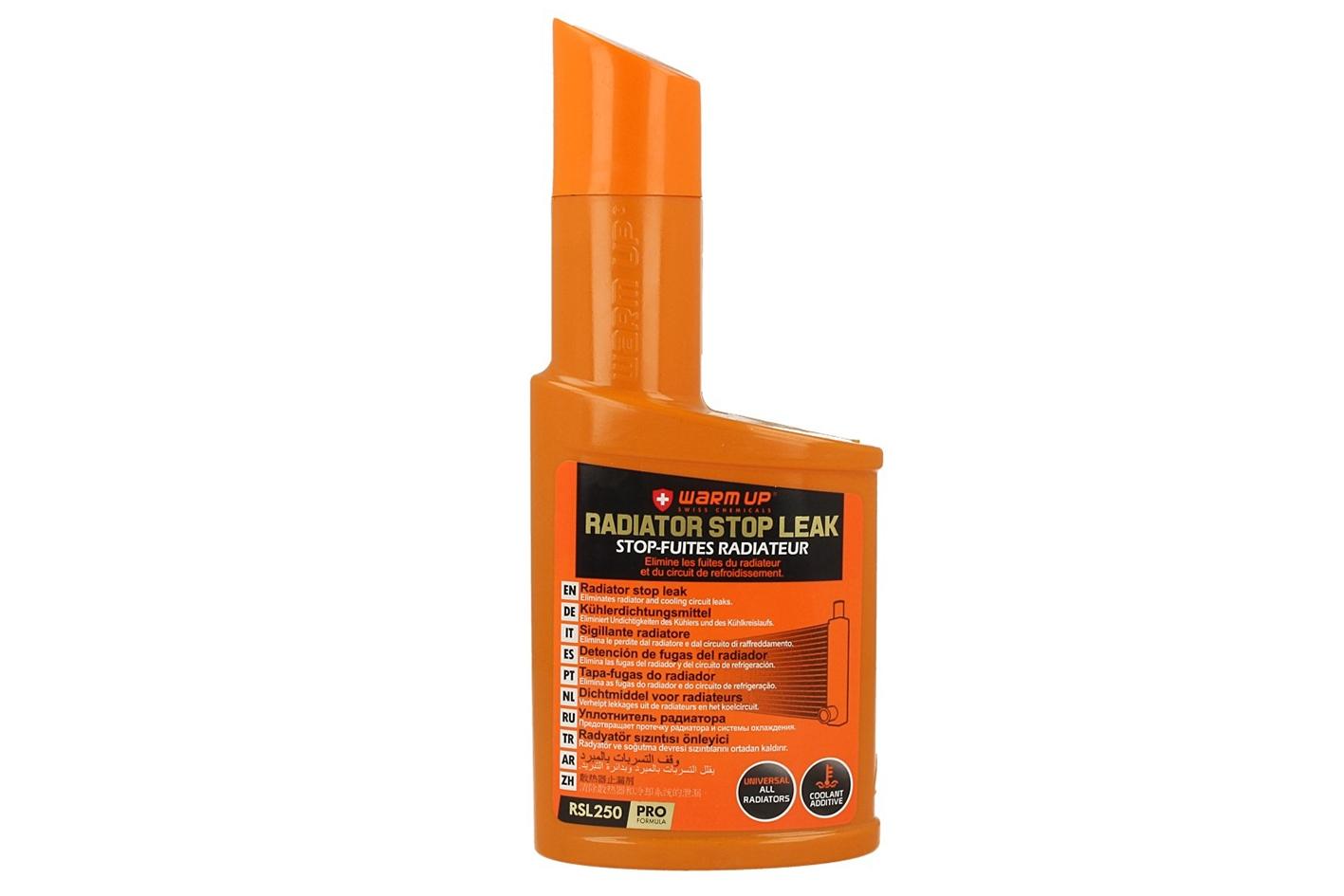 WARM UP Radiator Stop Leak Anti Fughe Sigillante Radiatori a Base Polimeri Attivi Applicazione Curativa e Preventiva 250ml - PZ