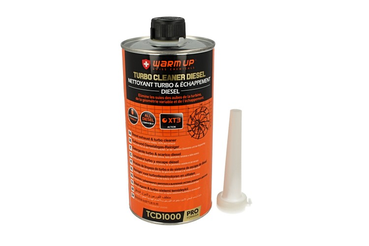 WARM UP Turbo Cleaner Diesel TCD1000 Pulitore Turbo Diesel e Scarico Post Combustione 1000ml - PZ