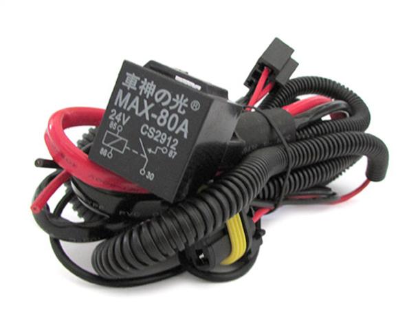 Cablaggio Rele Relay 24V 80A Stabilizzatore Corrente Per Lampada Xenon H7 H1 H3 H4 Mono Xenon Del Camion - PZ