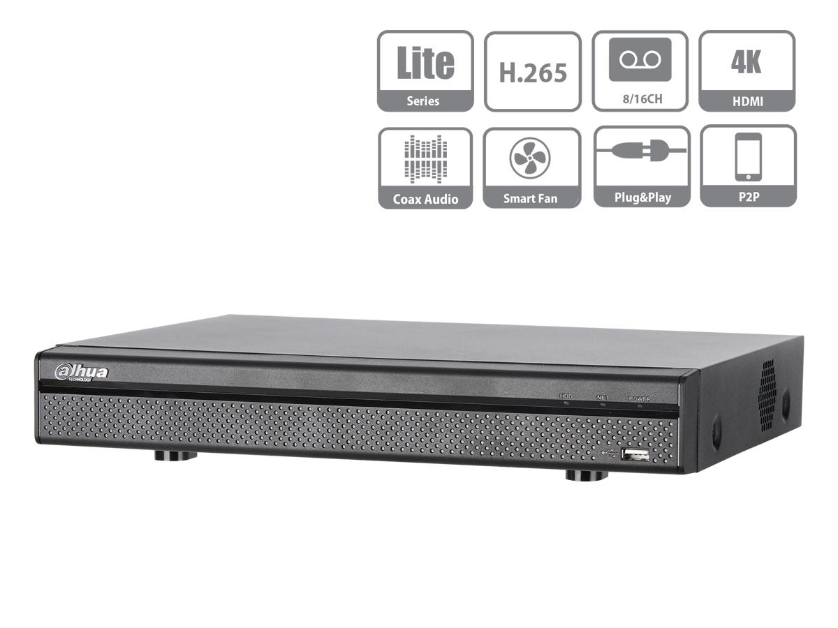 Videoregistratore XVR DVR NVR 16 Canali Penta-brid 4K Compact 1U 16CH@8MP 5 In 1 HDCVI CVBS AHD TVI IP H.265+ DAHUA XVR5116H-4KL-X
